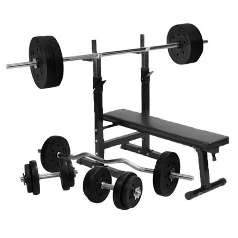 easy storage weight bench gorilla sports weight bench with 100kg weight set