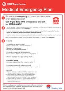 emergency protocol template emergency plan nsw ambulance