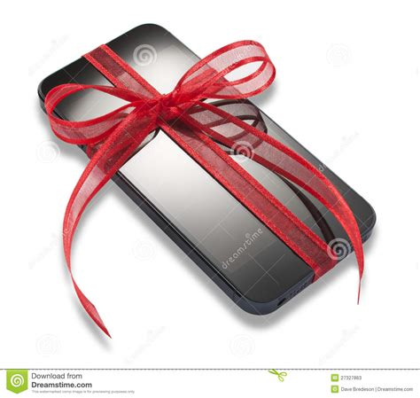 mobile cell phone christmas present gift editorial stock