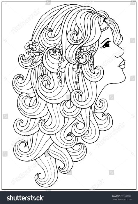 curly hair coloring pages for adults curly best free