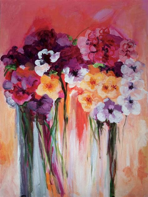 acrylic painting ideas flowers flower acrylic painting abstract www imgkid the