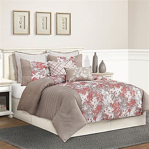 taupe comforter sets queen buy skye queen comforter set in taupe from bed bath beyond