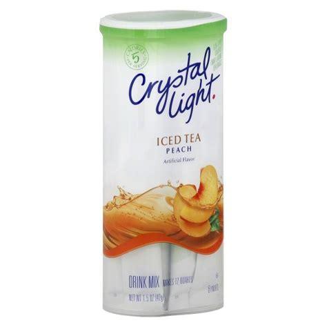 crystal light drink mix crystal light peach iced tea drink mix 6 ct target