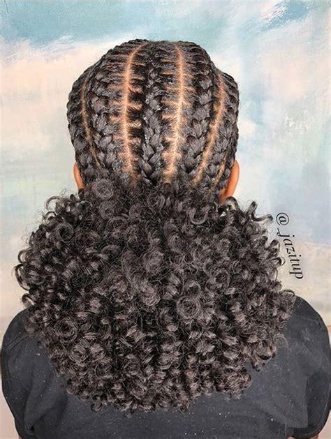 braided  afro puff natural hair styles braided