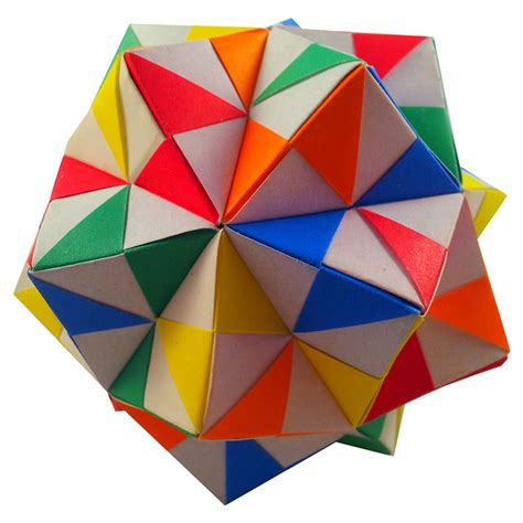How To Make A Pinwheel Origami - origami pinwheel unit icosahedron folded by edward