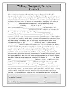 Wedding Photography Contract Template by Wedding Photography Contract Format