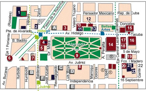 imagenes satelitales del zocalo capitalino map of alameda park mexico city