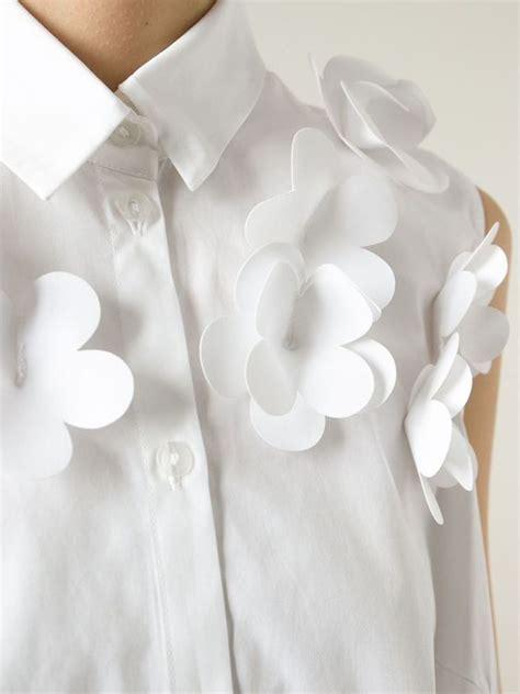 Flower Applique Shirt white shirt with 3d flower applique sewing idea textile