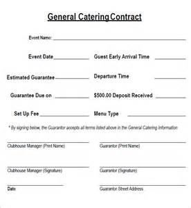 Catering Contract Templates by Catering Contract 7 Free Pdf