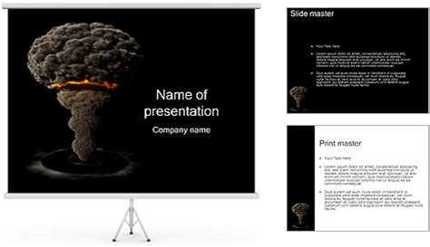 templates powerpoint nuclear atomic bomb powerpoint template backgrounds id