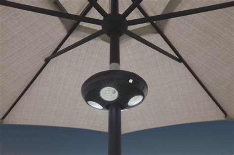 Patio Umbrella With Led Lights by Patio Umbrella Lights Led Outdoor Umbrella Lighting