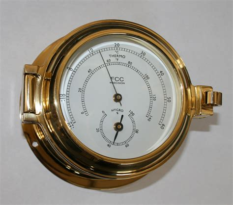 boat thermometer brass hygrometer thermometer perfect boat or home fcc
