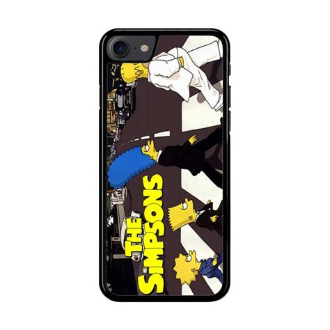 Casing Iphone 7 The Beatles Collection Custom jual flazzstore the simpsons a tribute the beatles f0814 custom casing for iphone 7 or 8