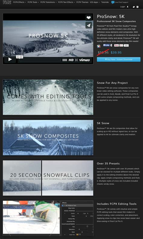 final cut pro x plugins a new fcpx plugin was announced today prosnow 5k from