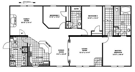 clayton double wide mobile homes floor plans 10 great manufactured home floor plans