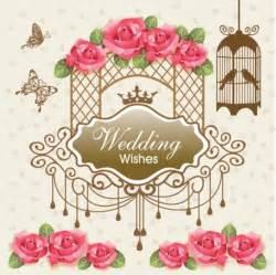 vintage wedding invitation card vector set 2 vintage wedding card design abstract vector set vector