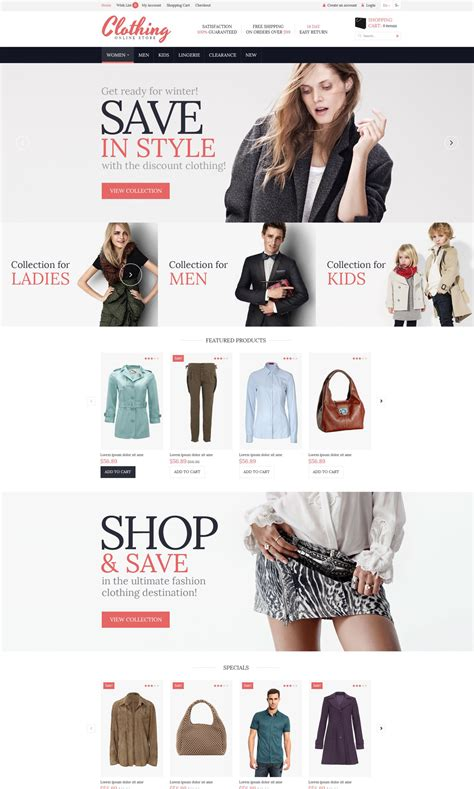 opencart themes clothing clothing for everyone responsive opencart template