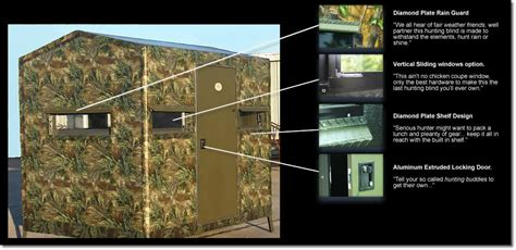 Boss Hunting Blinds The 6 X 8 Fiberglass Deer Blind By Boss Game Systems Is