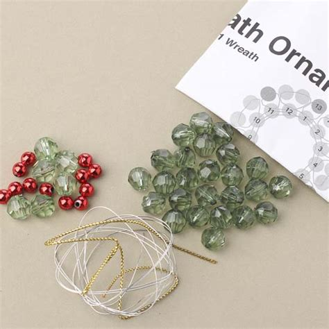 beaded wreath ornament kit christmas and winter sale sales