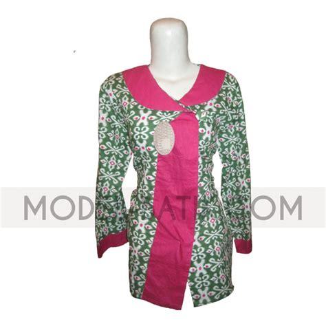 Baju Atasan Wanita Batik 22 model baju atasan batik wanita untuk kerja elegantria