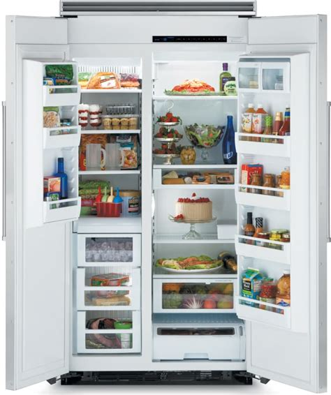Coldest Shelf In Refrigerator by Viking Vcsb5421wh 42 Inch Cool Built In Side By Side