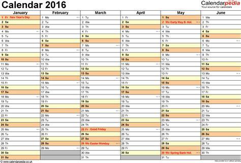 A3 Kalender 2016 Calendar 2016 Uk 16 Free Printable Pdf Templates