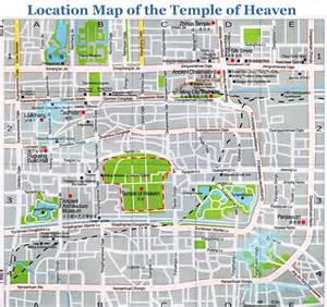 where is temple on the map temple of heaven