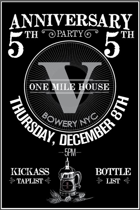 one mile house one mile house 5th anniversary murphguide nyc bar guide