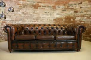 chesterfield brown leather sofa vintage chesterfield antique brown leather 3 seater sofa