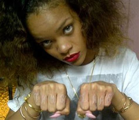 thug life tattoos famoskie rihanna gets tupac thug on