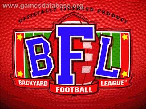 backyard football league backyard football league logo from backyard football game sports logos chris