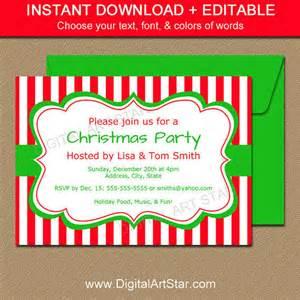 printable christmas party invitation from digital art star
