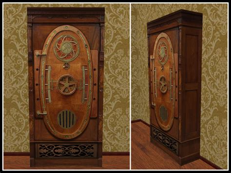 Second Life Marketplace   RE Wooden Steampunk Cabinet