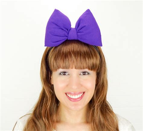 Hairstyles With Minnie Mouse Headband | daisy duck bow big purple minnie mouse ears headband daisy