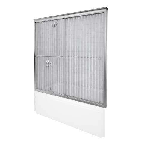 Kohler Sliding Glass Shower Doors Kohler Fluence 54 In To 57 In X 55 3 4 In Semi Frameless Sliding Shower Door In Matte Nickel