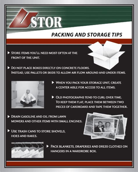 storage tips self storage tips and size guide u stor management