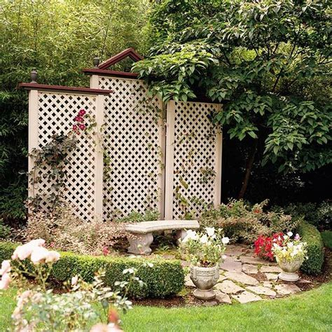 Garden Fence Screening Ideas Trellis Design Ideas Trellises With Fences Or Screens Gardens Patio And Backyards