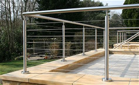 External Handrail Systems stainless steel handrail railing and balustrade systems tensioned wire and glass infill
