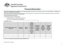 financial declaration form activity financial declaration form department
