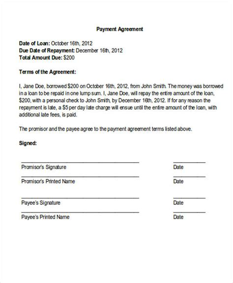 29 Payment Letter Formats Sle Templates Payment Plan Letter Template
