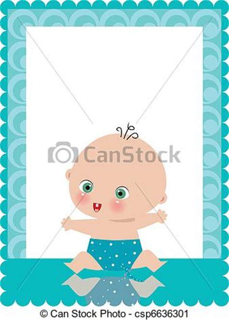 clipart nascita bambino clipart vettoriali di annuncio nascita scheda bambino
