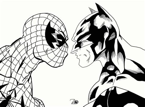 spiderman vs batman free coloring pages