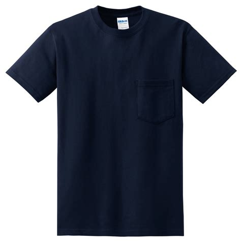 gildan 2300 ultra cotton t shirt with pocket navy