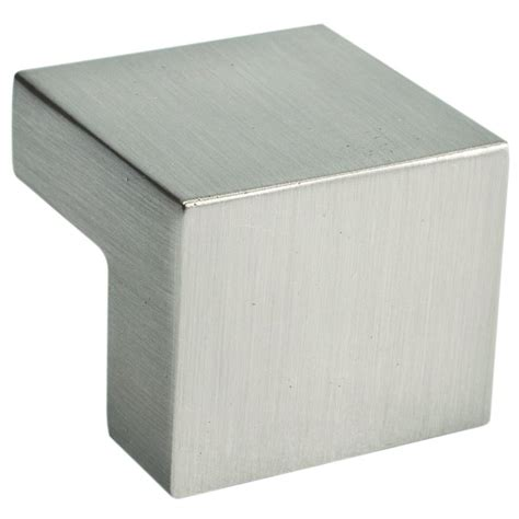square cabinet knobs nickel atlas homewares successi 1 in brushed nickel square