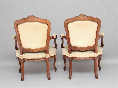 antique upholstered armchairs pair upholstered armchairs antiques atlas
