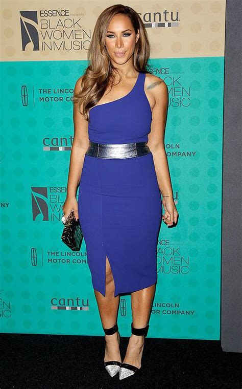 tattoo black and blue dress leona lewis shows off tattoos as she wows in blue at