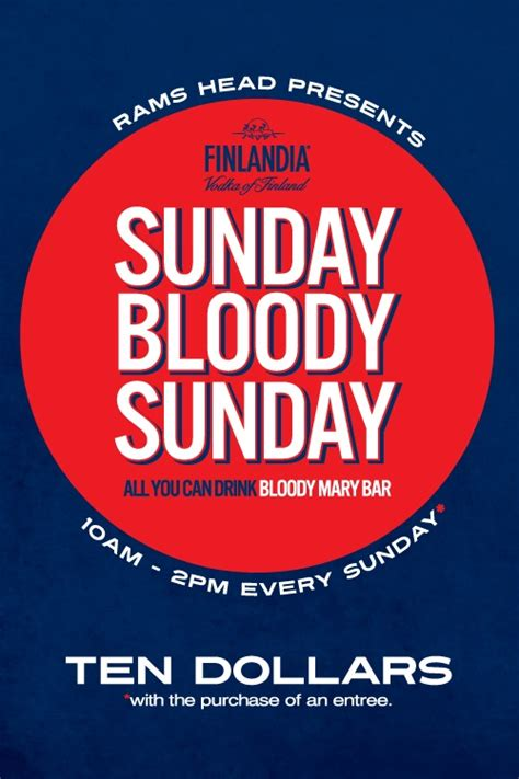 Bar Giveaways - sunday bloody mary bar promotions every sunday 10 all you can drink make your own