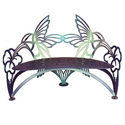 metal butterfly bench cricket forge butterfly dragonfly bench outdoor