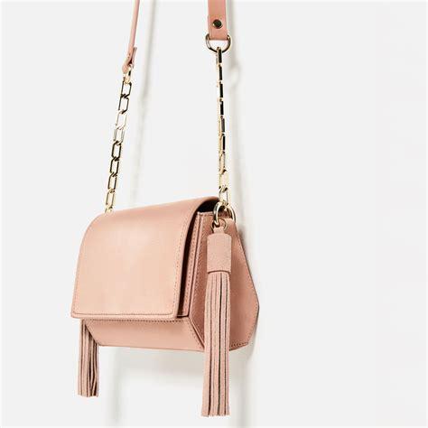 Tas Zara Shoulder Bag Zara Zr241 Crossbody Bag Zara Import Original mini geometric crossbody bag with tassels from zara