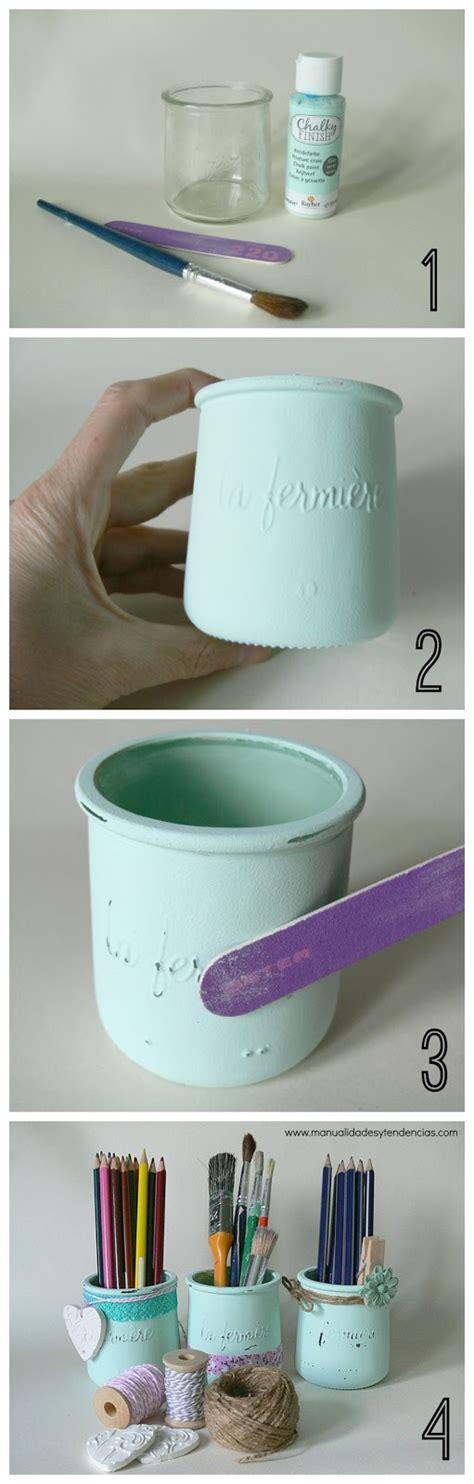 decorar botellas y tarros de cristal manualidades y tendencias chalk paint tarros de cristal